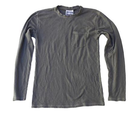Jungmaven Baja Long Sleeve 7oz Pocket Tee - Charcoal Gray