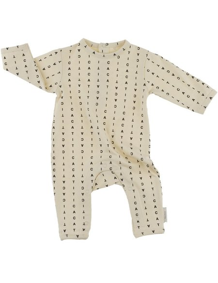 Kid's Tiny Cottons ALPHABET SOUP PRINT ONE PIECE - NATURAL