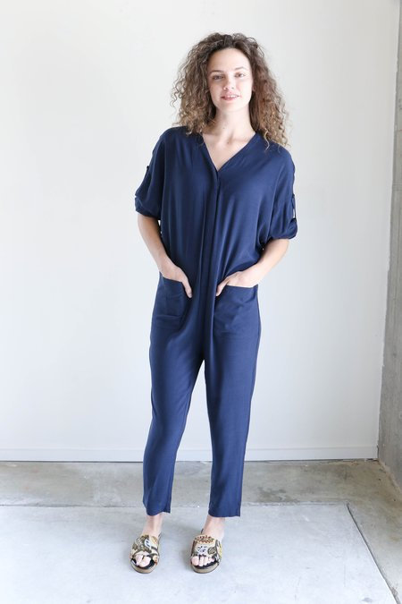 7115 By Szeki Workman Jumpsuit in Navy
