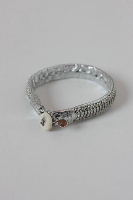 Maria Rudman Silver metallic BBrace bracelet