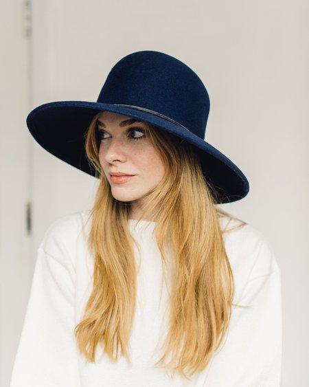 Brookes Boswell Navy Baldwin Felt Hat