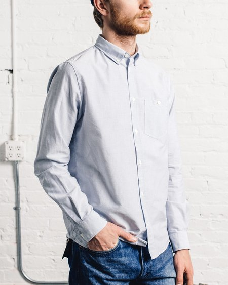 Norse Projects Anton Oxford - Navy Stripe