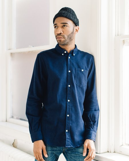Norse Projects Osvald Navy Brushed Shirt