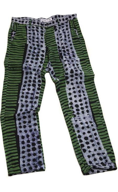 Unisex Studio One Eighty Nine Military Print Cotton Hand-Batik Pants