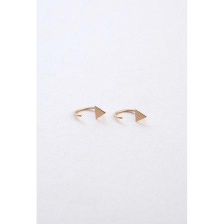 Melissa Joy Manning Triangle Hugger Earrings