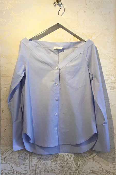 A.L.C. 'Wes' Off the Shoulder Poplin Shirt