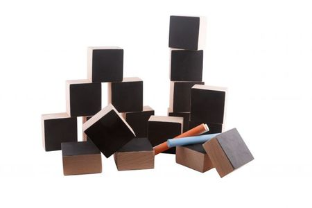 Kids Paulette et Sacha Chalkboard Blocks