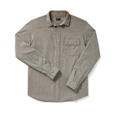 Filson Rustic Oxford Shirt Cream & Dk. Brown