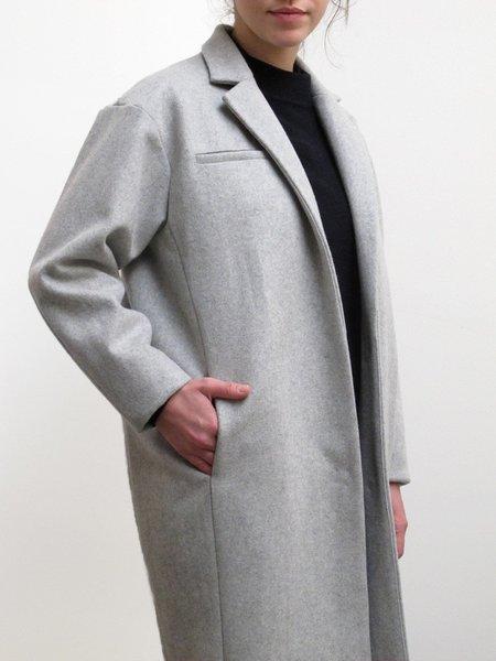 Waltz Notch Collar Coat in Heather Grey
