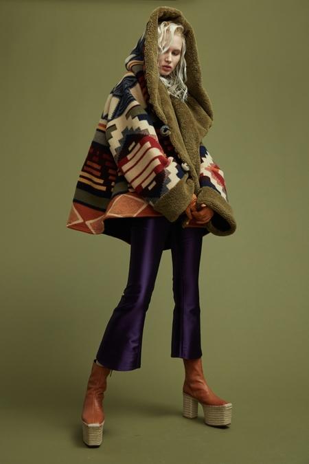 Lindsey Thornburg + Pendleton Cedar Mountain Trench Cloak