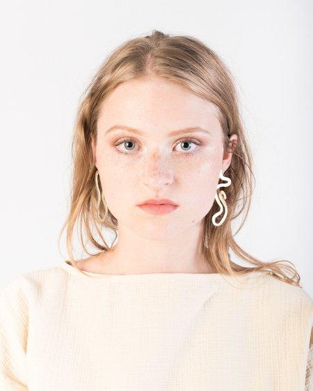 Luiny As one Earrings in brass