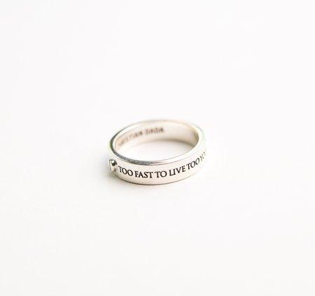 Christian Dada TFTLTYTD Plate Silver Ring