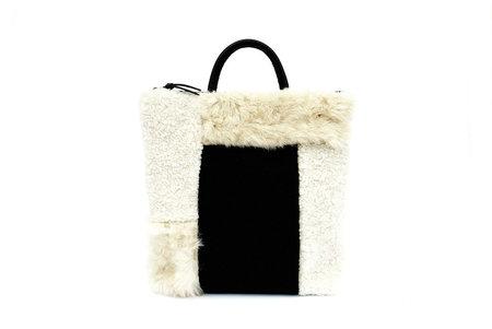 Primecut Blocks Patchwork Sheepskin Backpack