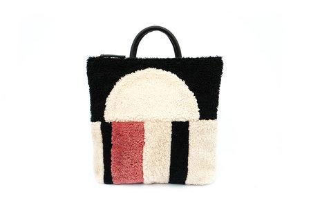Primecut Sunset Patchwork Sheepskin Backpack