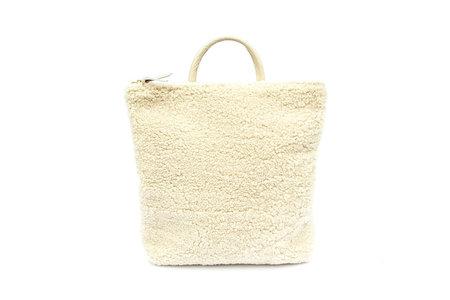 Primecut Beige Sheepskin Backpack