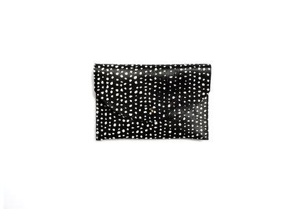 Primecut Dots Cowhide Envelope Clutch