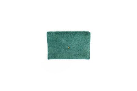 Primecut Sea Green Cowhide Passport Clutch