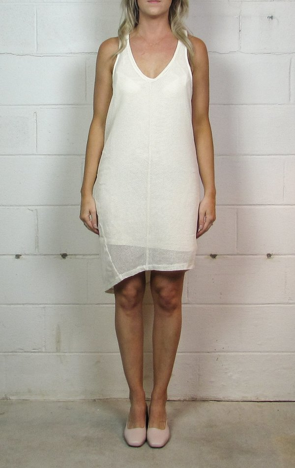 Heather square mesh tank dress