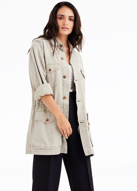 elborne Vintage oversized distressed safari jacket
