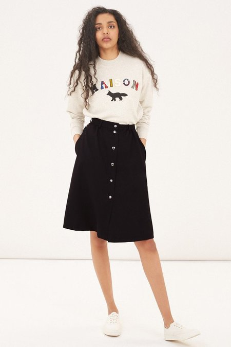 Kitsune Flannel Oki Skirt - Black