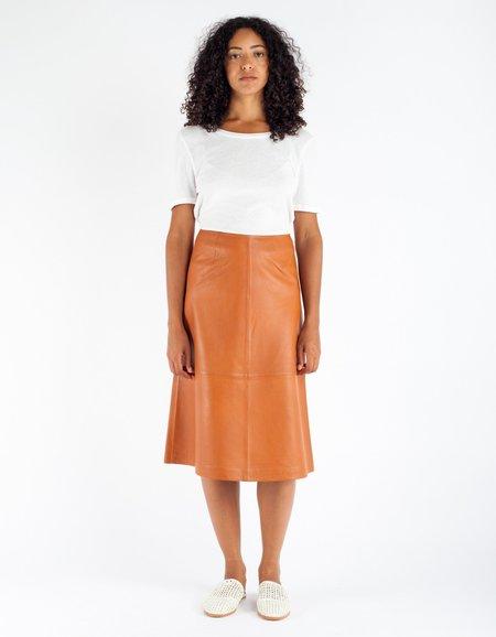 Just Female Angie Leather Skirt Hazel