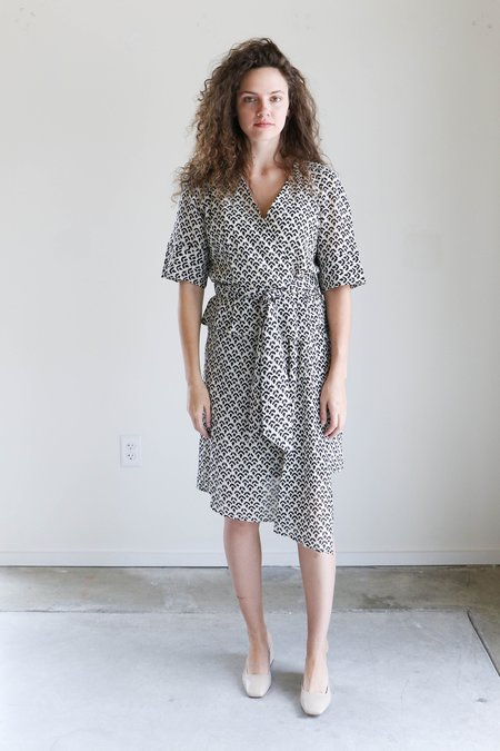 Apiece Apart Lucia Wrap Dress in Reverse Tracks