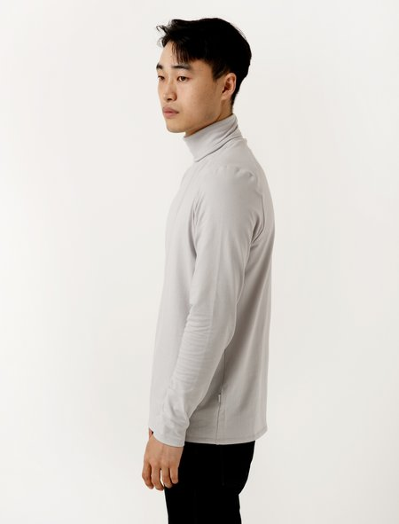 Patrik Ervell Mens Turtleneck T-Shirt - Dove Grey
