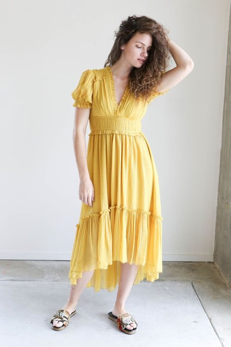 Ulla Johnson Sonja Dress in Honey