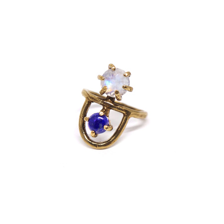 Laurel Hill Jewelry Arche Ring - Moonstone & Lapis