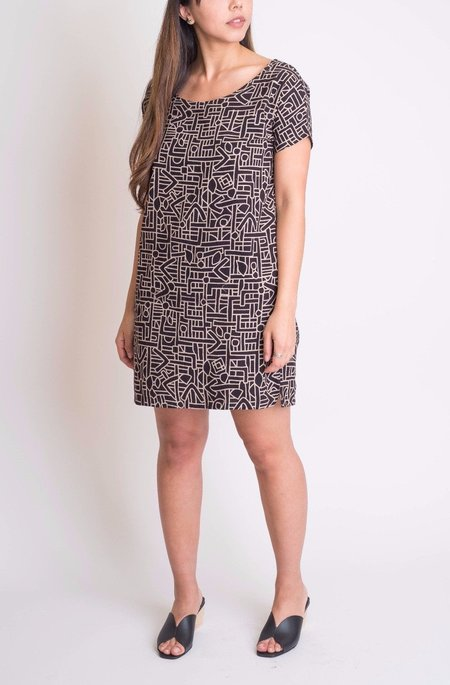 Mollusk Black Block Mini Dress