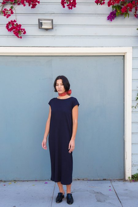 Esby Natalie Rib Dress In Navy