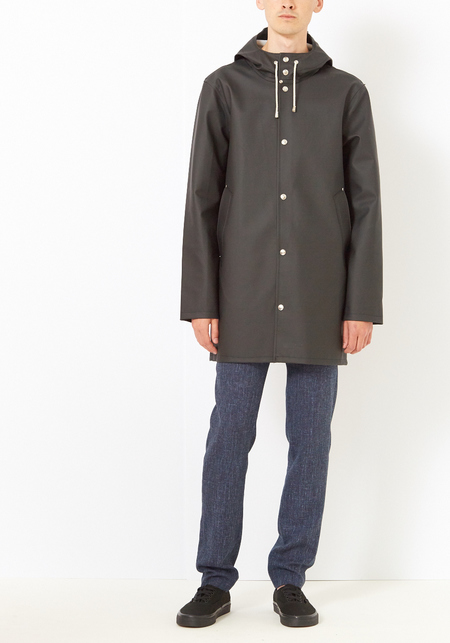Unisex Stutterheim Black Stockholm Raincoat
