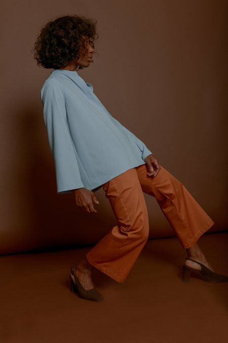 Wolcott : Takemoto Jim Blouse in Sky Georgette