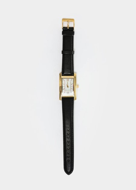 Berg + Betts Gold Classic Watch in Black