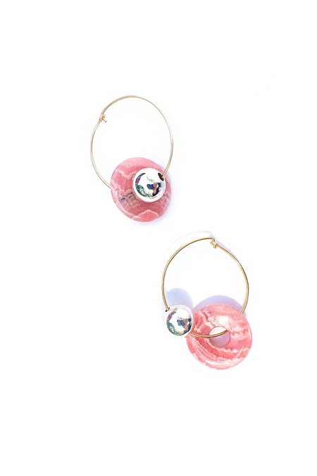 Mau Rhodochrosite Orbis Earrings