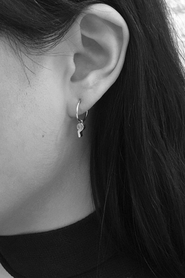 Lauren Klassen Tiny Whistle Hoop Earring