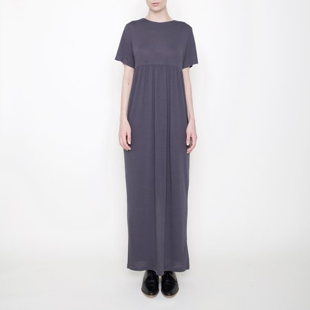 7115 by Szeki Short-Sleeves Maxi - Gray - FW17