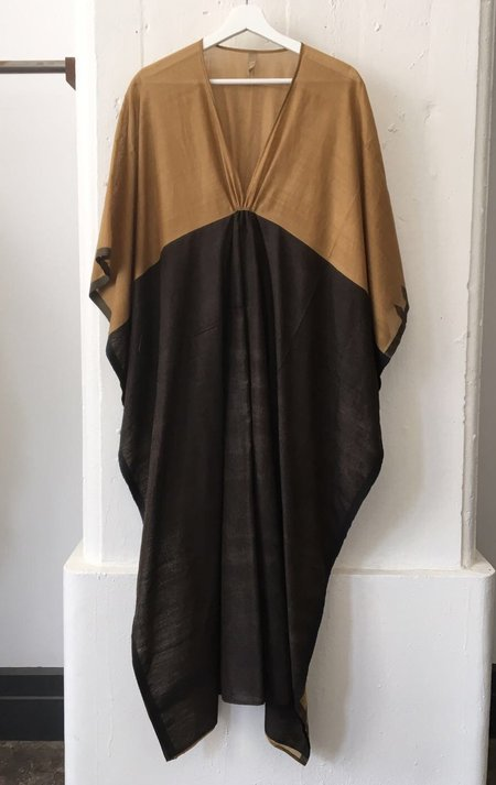 Two Caramel and Black Caftan