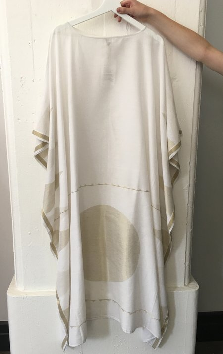 Two White Boatneck Caftan