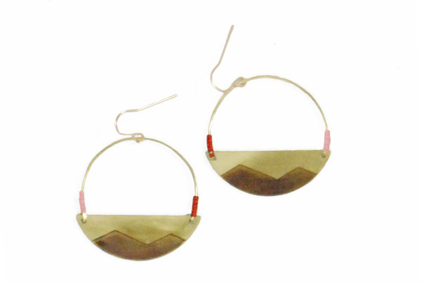 Son of a Sailor Tepui crescent earrings