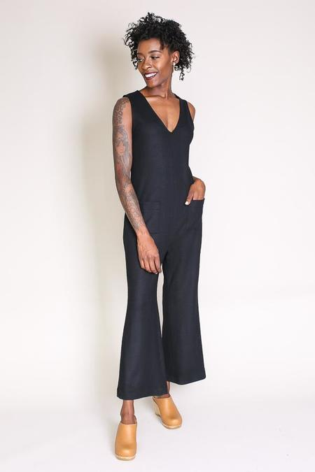 No.6 Roberta V-neck Jumpsuit In Black
