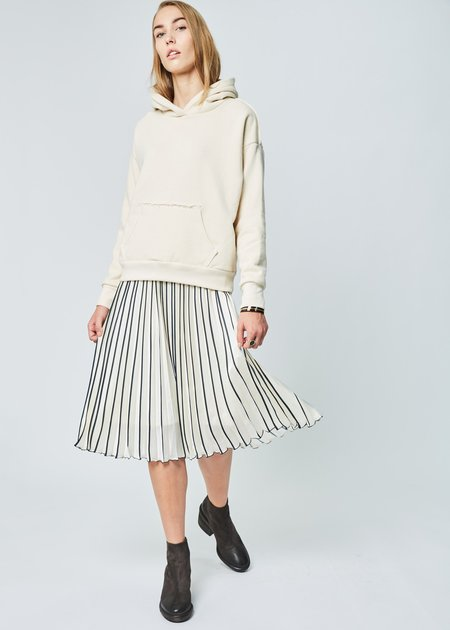 Simon Miller Boise Hooded Pullover in Pearl
