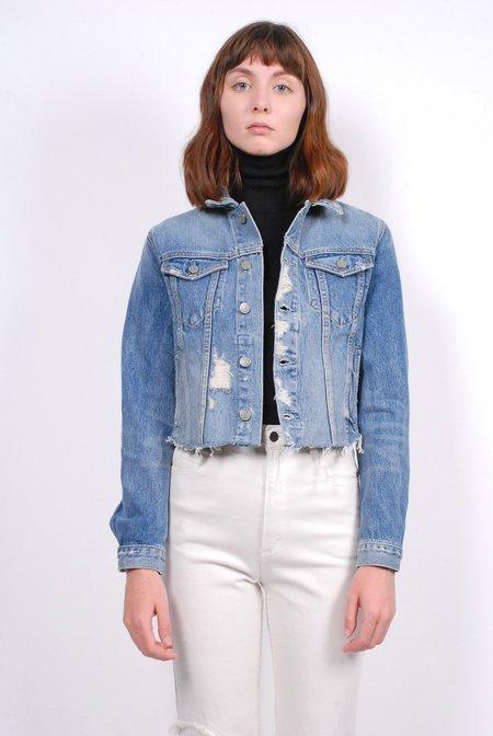 Grlfrnd Cara Cropped Denim Jacket - Mary Jane