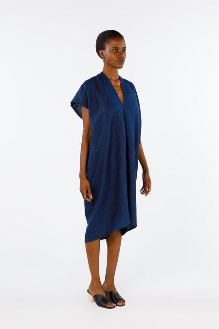 Miranda Bennett Ed. VIII Everyday Dress, Linen in Dark Indigo