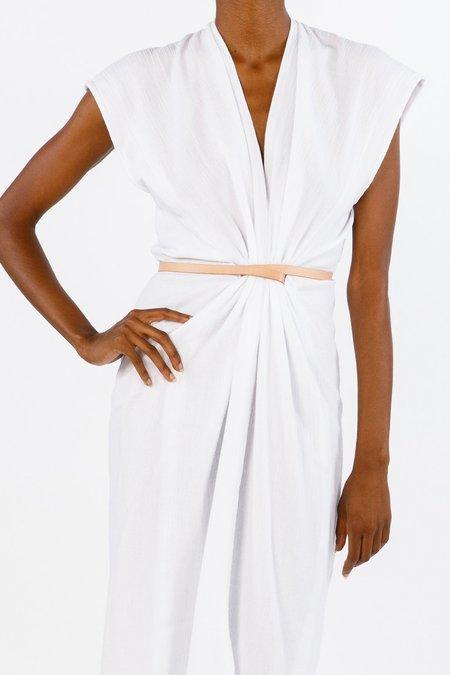 Miranda Bennett Vision Dress, Lined Cotton Gauze in White
