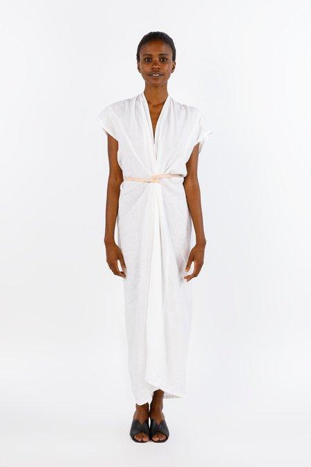 Miranda Bennett Studio Knot Dress, Linen in White