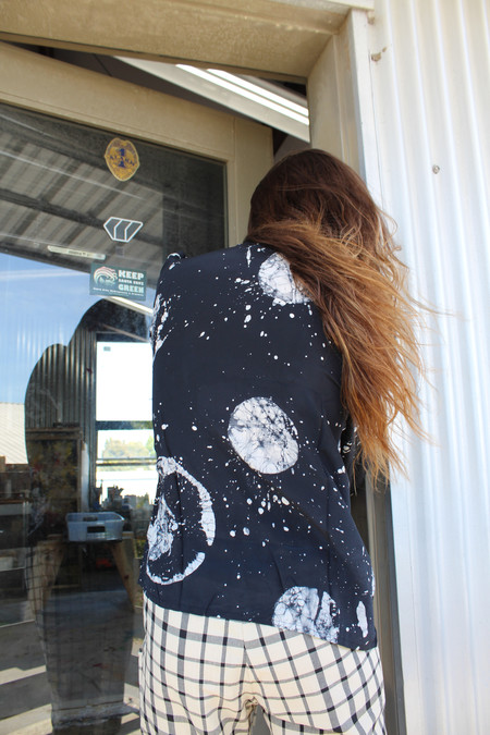 Osei-Duro Tie Neck Blouse in Astronomy