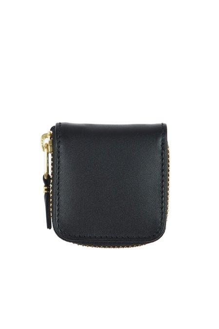 Comme des Garçons Mini Leather Zip Wallet - Black - SA-4100
