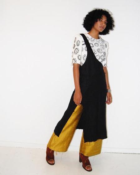 Alexa Stark linen one shoulder skirt