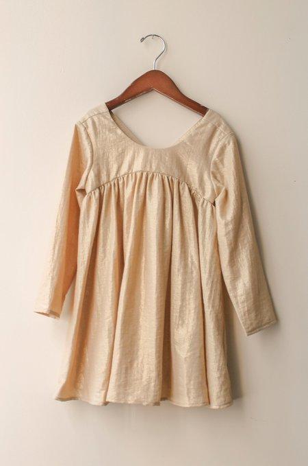 Kid's Shopboyandgirl Roman Dress in Caramel